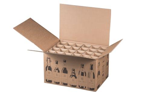 Karton f. 24 Bierflaschen, 3,778 EUR/St., 2 Pal. 150 Versandkartons