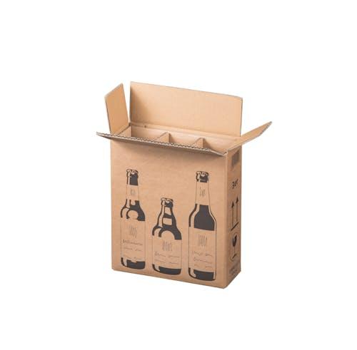 Karton f. 3 Bierflaschen inkl. Einlage