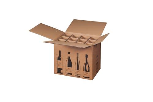 Karton f. 12 Weinflaschen, 2,944 EUR/St., 2 Pal. 150 Premiumline