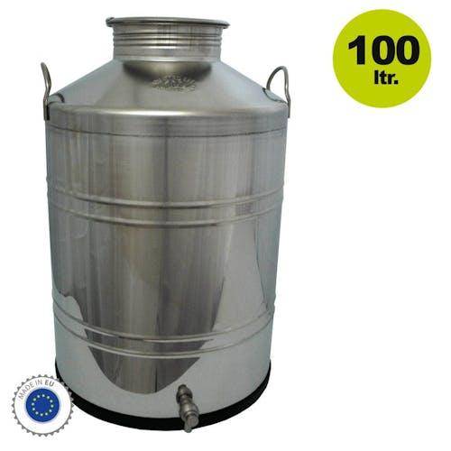 Edelstahl-Kanne 100 Liter Inhalt / Getränkefass für Lebensmittel
